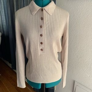 Tory Burch Long Sleeve Top Sweater Size M